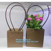 Cardboard flower packing boxes flower paper carrier bags flower packaging,book bag custom canvas shopping bag eco friend