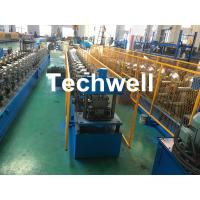 Forming Material PPGI , Aluminum Gutter Roll Forming Machine With Forming Speed 0-15m/min
