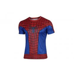 China Dri Fit Moisture Wicking Compression Rash Guard Shirts Spider Man Printing on sale