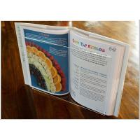 Light Weight Acrylic Menu Holder , Clear Acrylic Cookbook Holder With No Toxicity