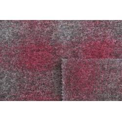 China Garnet Jacquard Knitting Check Wool Fabric For Fashion Garment 148 CM Width on sale