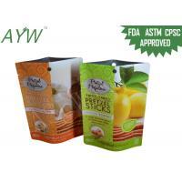 Matt Vanish Food Packaging Bags Twice Baked Pretzel Sticks For Lemon Toffee