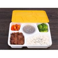Safe lock creative lunch box 5 comparment takeaway trays injection molding bento boxes with cover