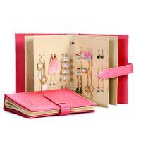 Earrings Holder Book Fancy Jewelry Box Foldable For Earrings Storage