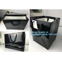 Elegant luxury printed glossy lamination flower paper bag with handle,Brown/ White Kraft Paper Bag, bagplastics, package