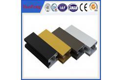 La Chine balustrade en aluminium de porte coulissante de matériaux de contruction des prix, cadre de porte en aluminium anodisé fournisseur