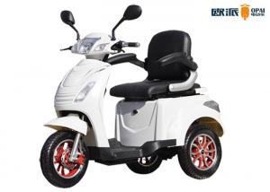 Electric 3 Wheel Handicap Scooters , White Mobility Electric Scooters For Adults