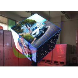 China Indoor Digital Visual Creative LED Display Custom Cube Shape Pillar Support on sale