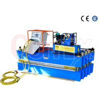 Steel Cord Conveyor Belt Vulcanizing Press Machine , Blue Automatic Vulcanizing Machine