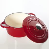 cast iron round casserole