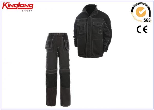 China Industrial Canvas Work Suit / Breathable Mechanic Worker Uniform supplier
