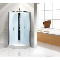Comfort Bathroom Curved Shower Stall Kits Customized Free Standing Type