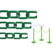 Recyclable Colorful Plastic Link Chain / Green Plastic Chain For Garden