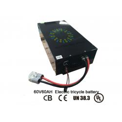China Eco Friendly Lifepo4 60V 60Ah Lithium Polymer Battery Pack With Smart BMS And Charge on sale