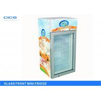 Upright Glass Front Beverage Fridge Customized Size CE Certification