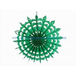 China 12 Inch Green , Orange Paper Fan Backdrop For Store Decoration , Tissue Hanging Fans on sale