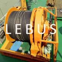 Hydraulic marine offshore platform or drilling rig boat towing winch