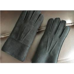 China Windproof Dark Grey Warmest Sheepskin Gloves Soft Touching Screen For Iphone on sale