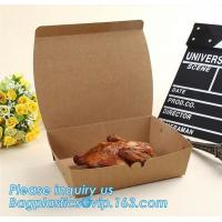 Custom Recycle Disposable Kraft Paper Cardboard Lunch Box for Kids,Disposable Custom Printed Kraft Lunch Food Paper Boxe