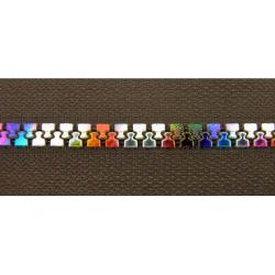 China Plastic Rainbow Teeth Zippers Non-Lock Slider 5# For Handbag Garment on sale