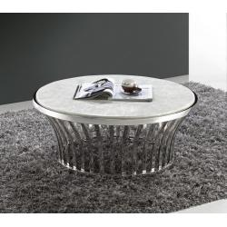 white modern marble round coffee table, white modern ...